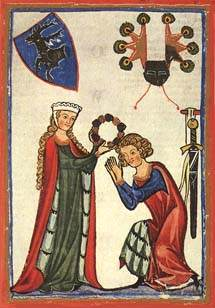 What is meant by the tradition of courtly love