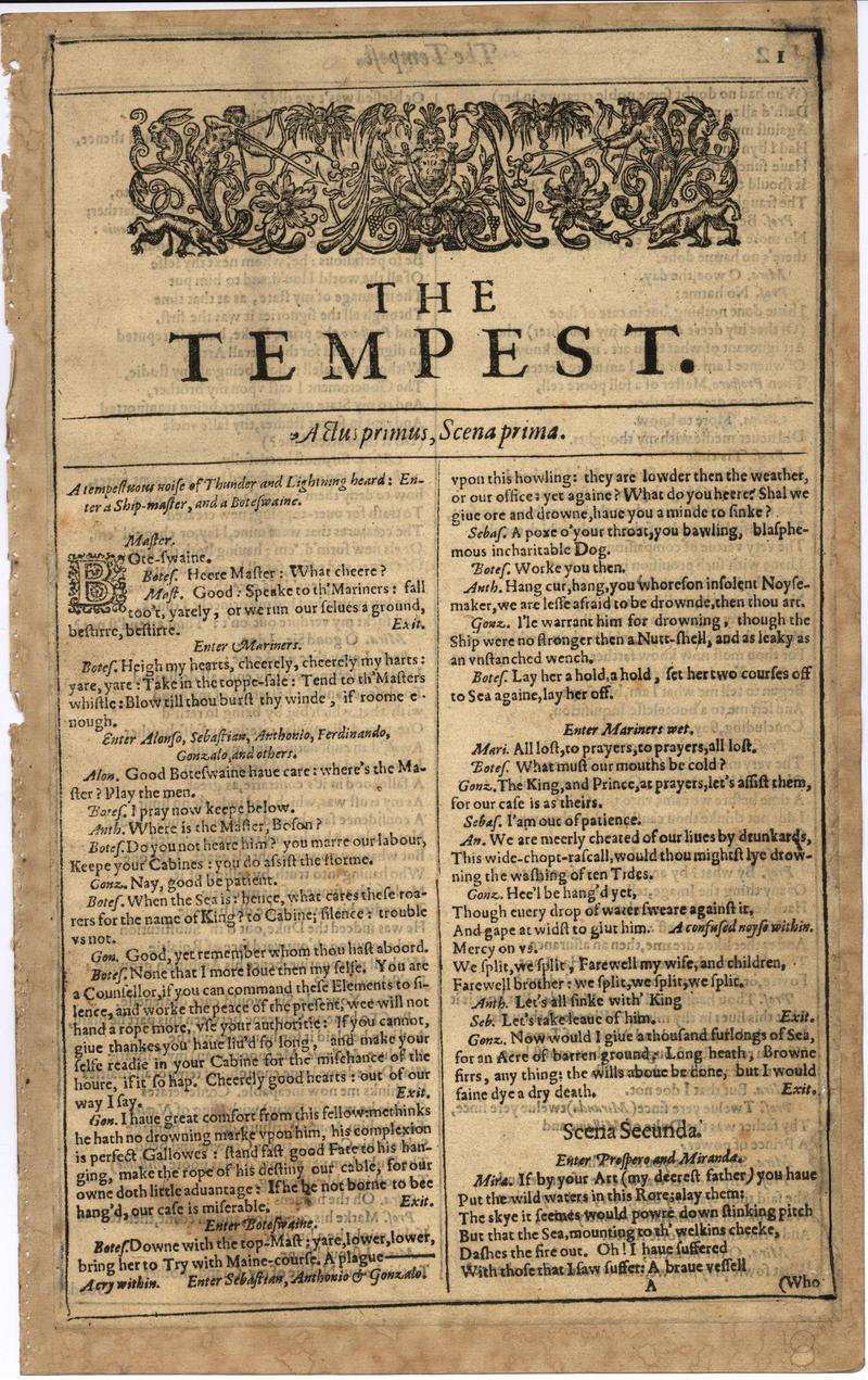 Image of First Folio (Brandeis University), page 19