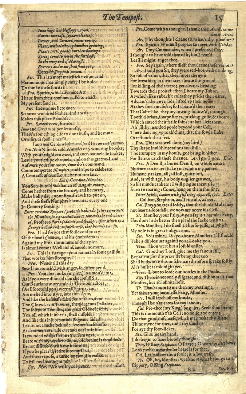 Image of First Folio (Brandeis University), page 33