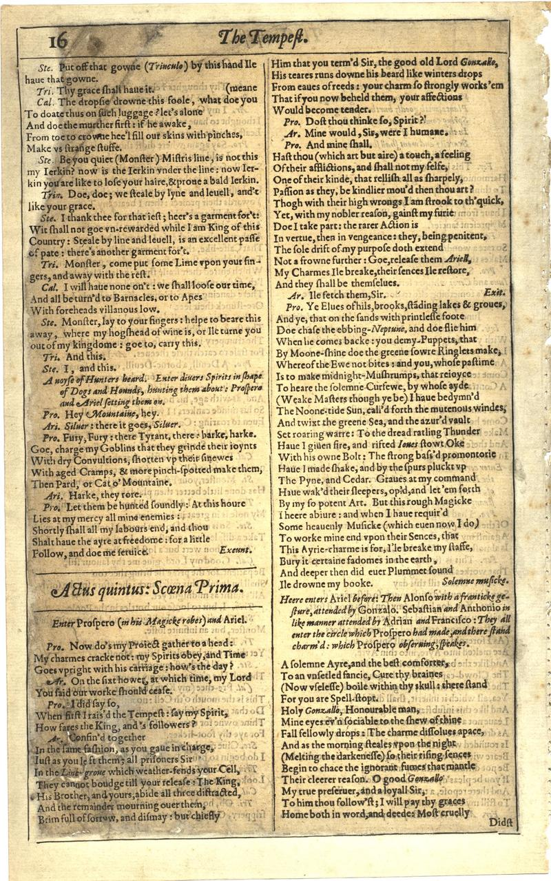Image of First Folio (Brandeis University), page 34