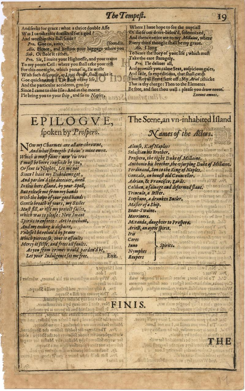 Image of First Folio (Brandeis University), page 37