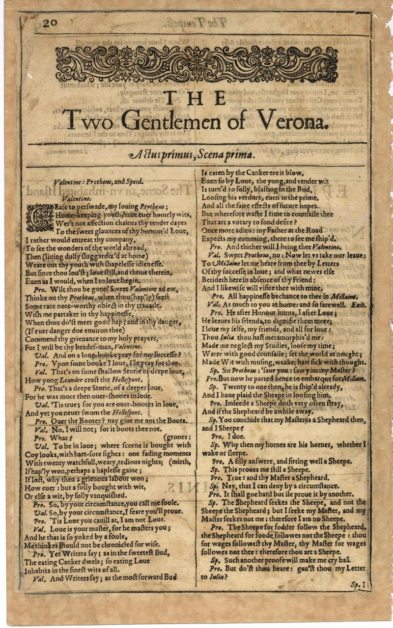 Image of First Folio (Brandeis University), page 38