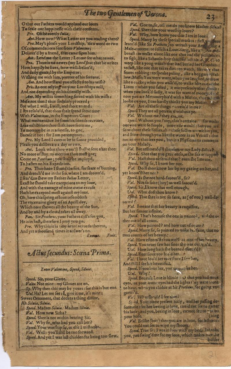 Image of First Folio (Brandeis University), page 41