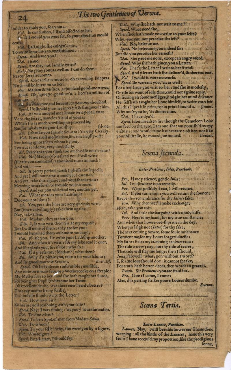 Image of First Folio (Brandeis University), page 42
