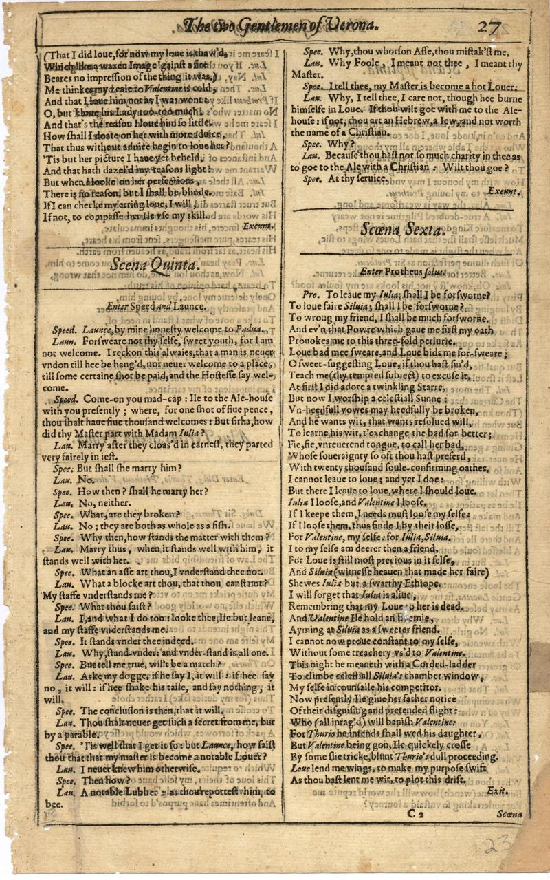 Image of First Folio (Brandeis University), page 45