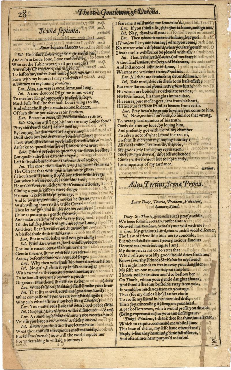 Image of First Folio (Brandeis University), page 46
