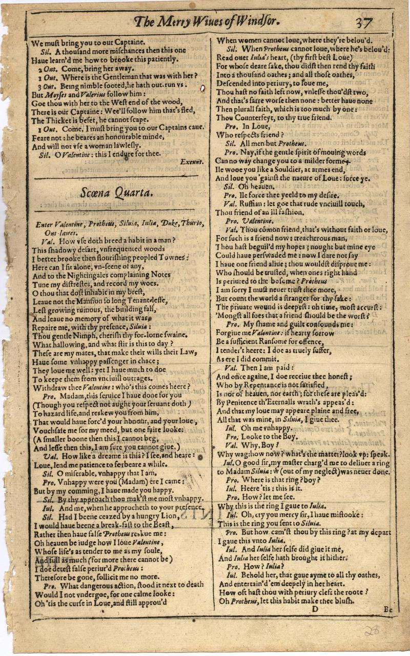 Image of First Folio (Brandeis University), page 55