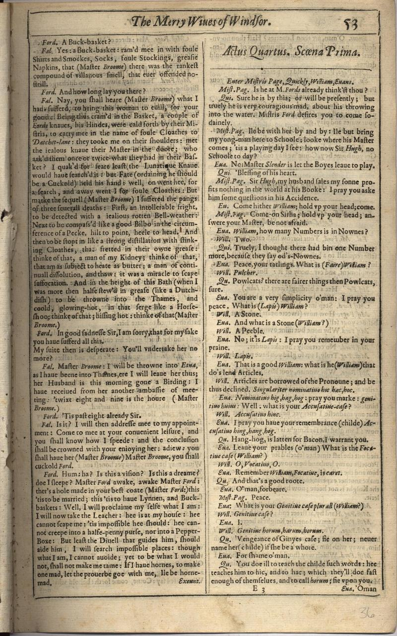 Image of First Folio (Brandeis University), page 71