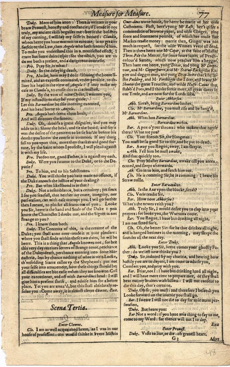 Image of First Folio (Brandeis University), page 95