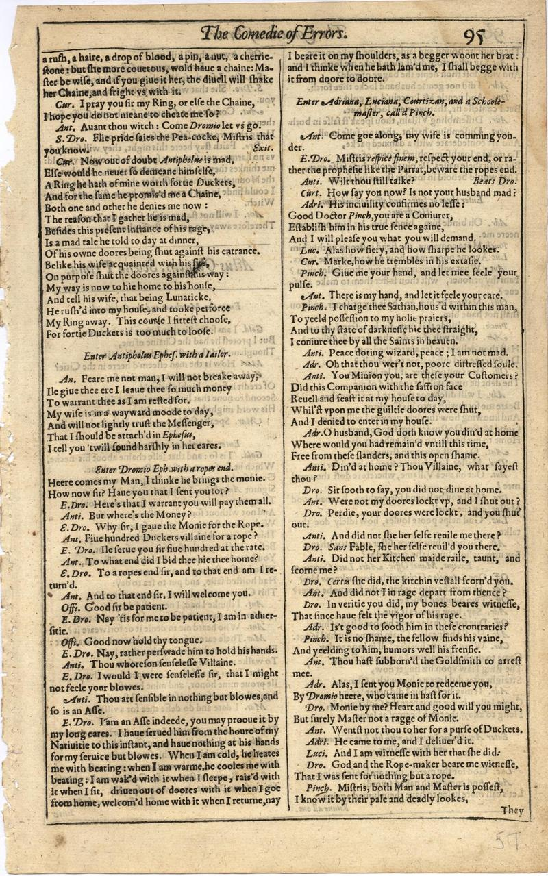 Image of First Folio (Brandeis University), page 113