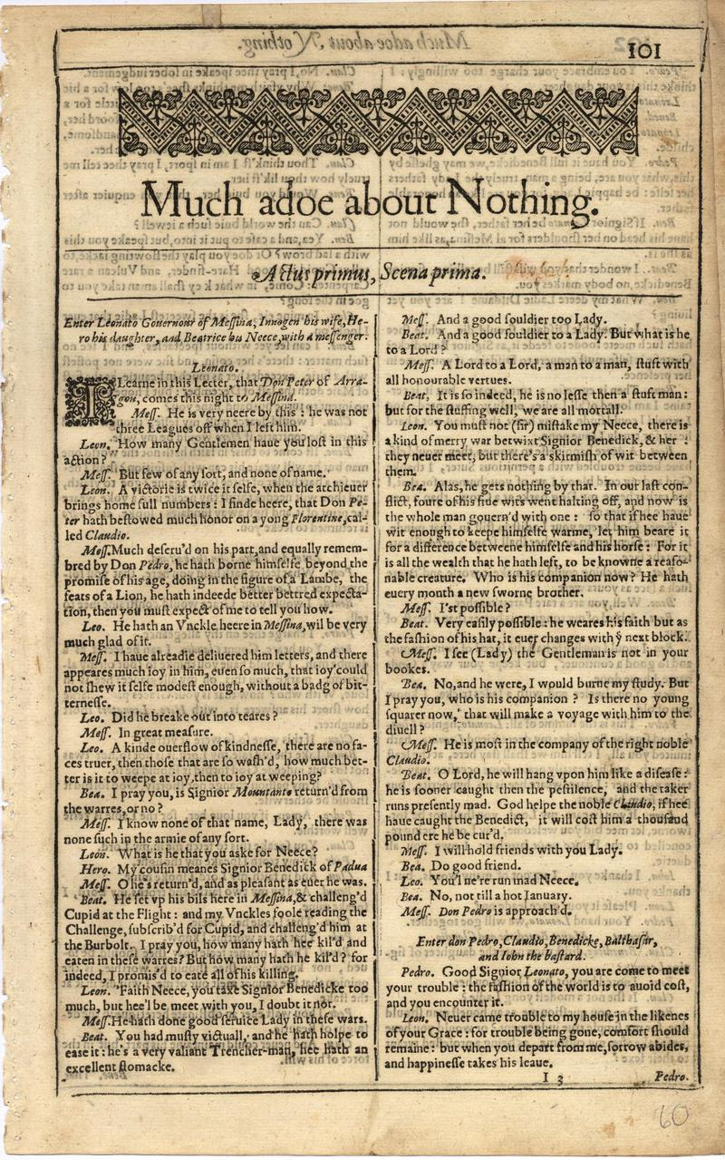 Image of First Folio (Brandeis University), page 119