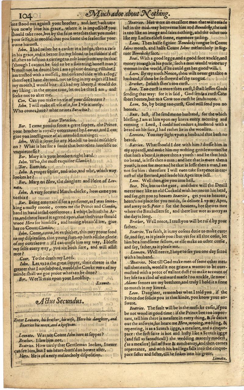 Image of First Folio (Brandeis University), page 122