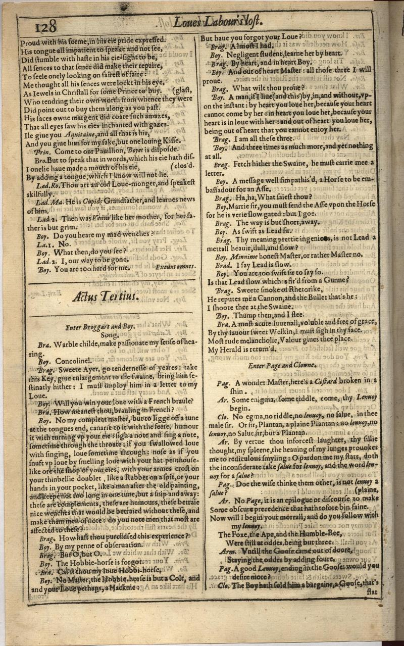 Image of First Folio (Brandeis University), page 146