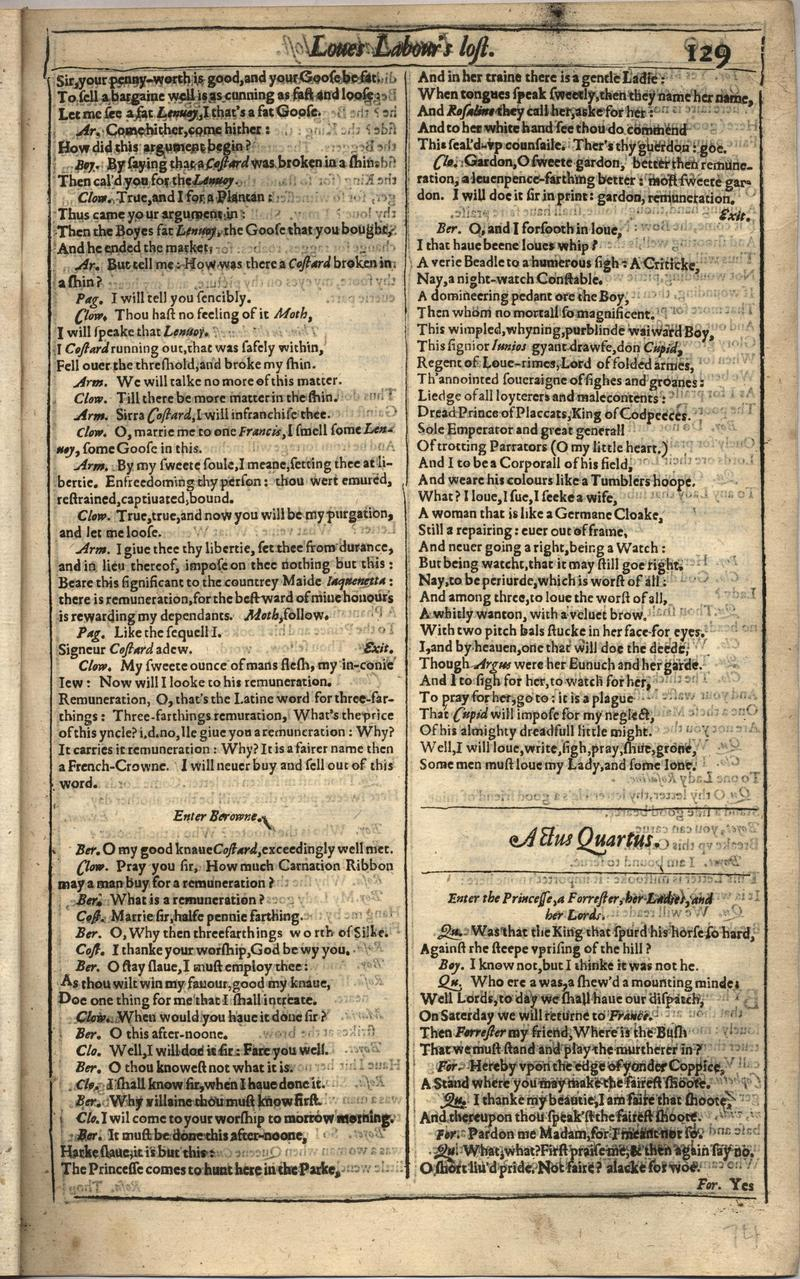 Image of First Folio (Brandeis University), page 147