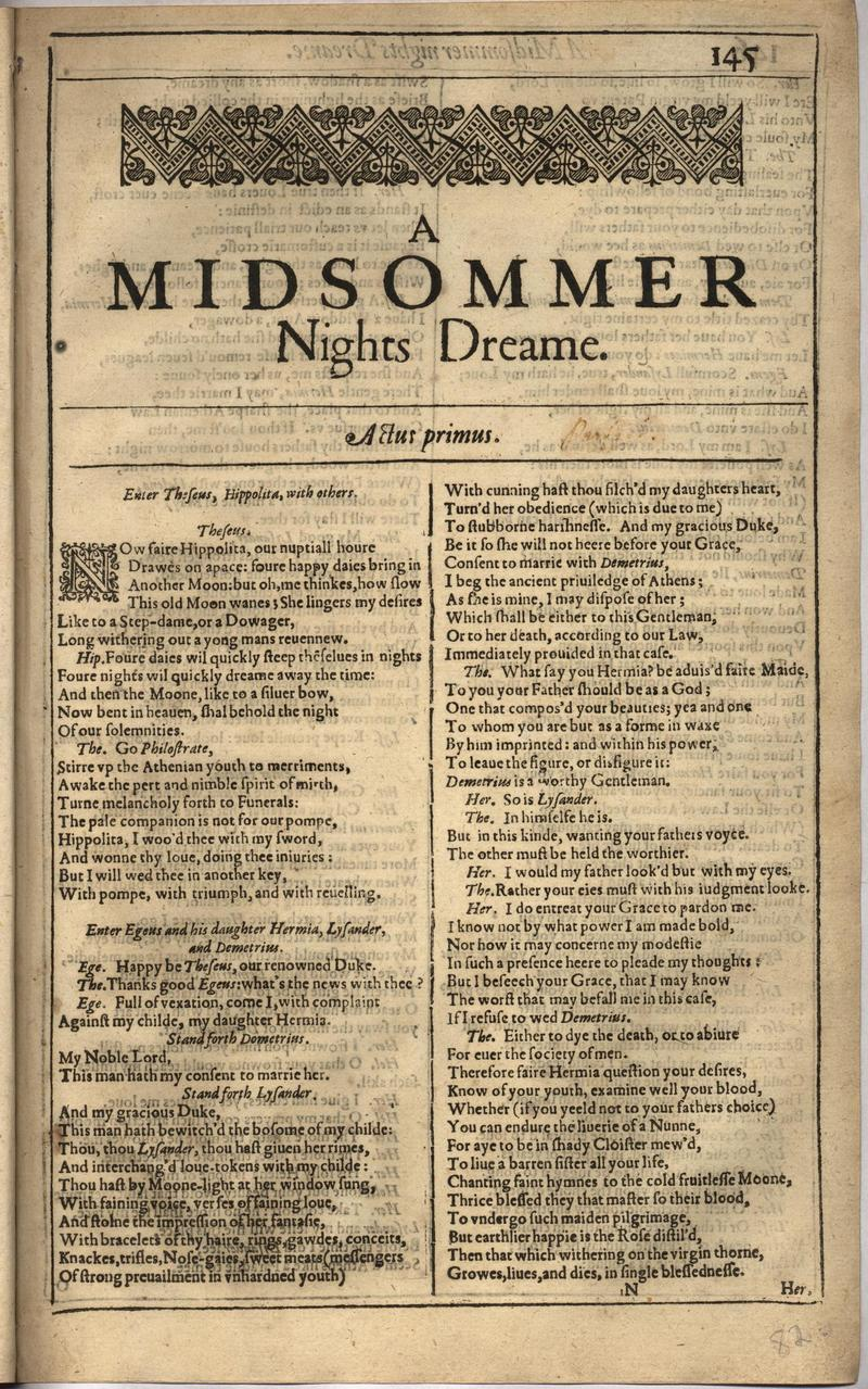 Image of First Folio (Brandeis University), page 163