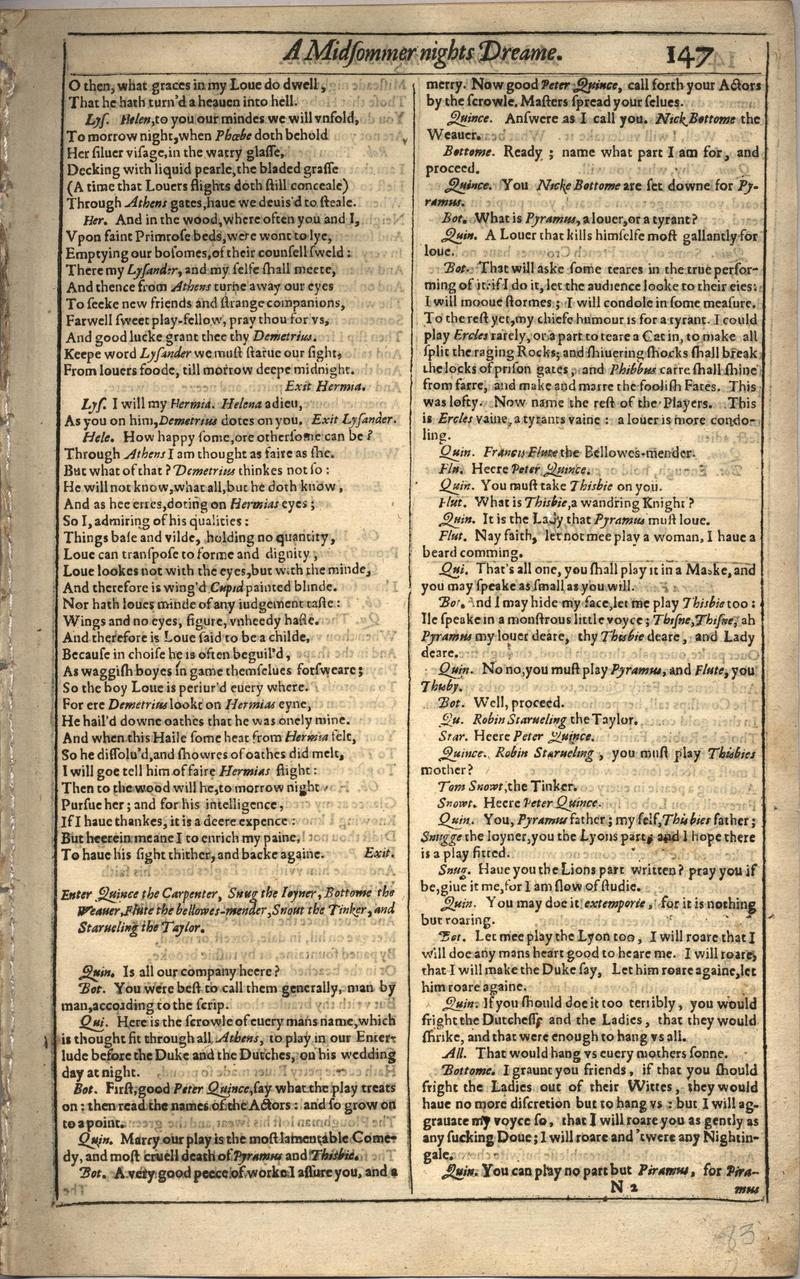 Image of First Folio (Brandeis University), page 165