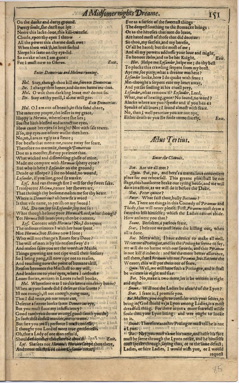 Image of First Folio (Brandeis University), page 169