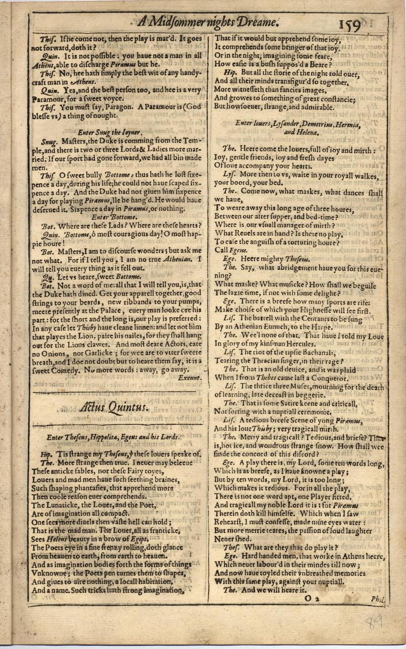 Image of First Folio (Brandeis University), page 177