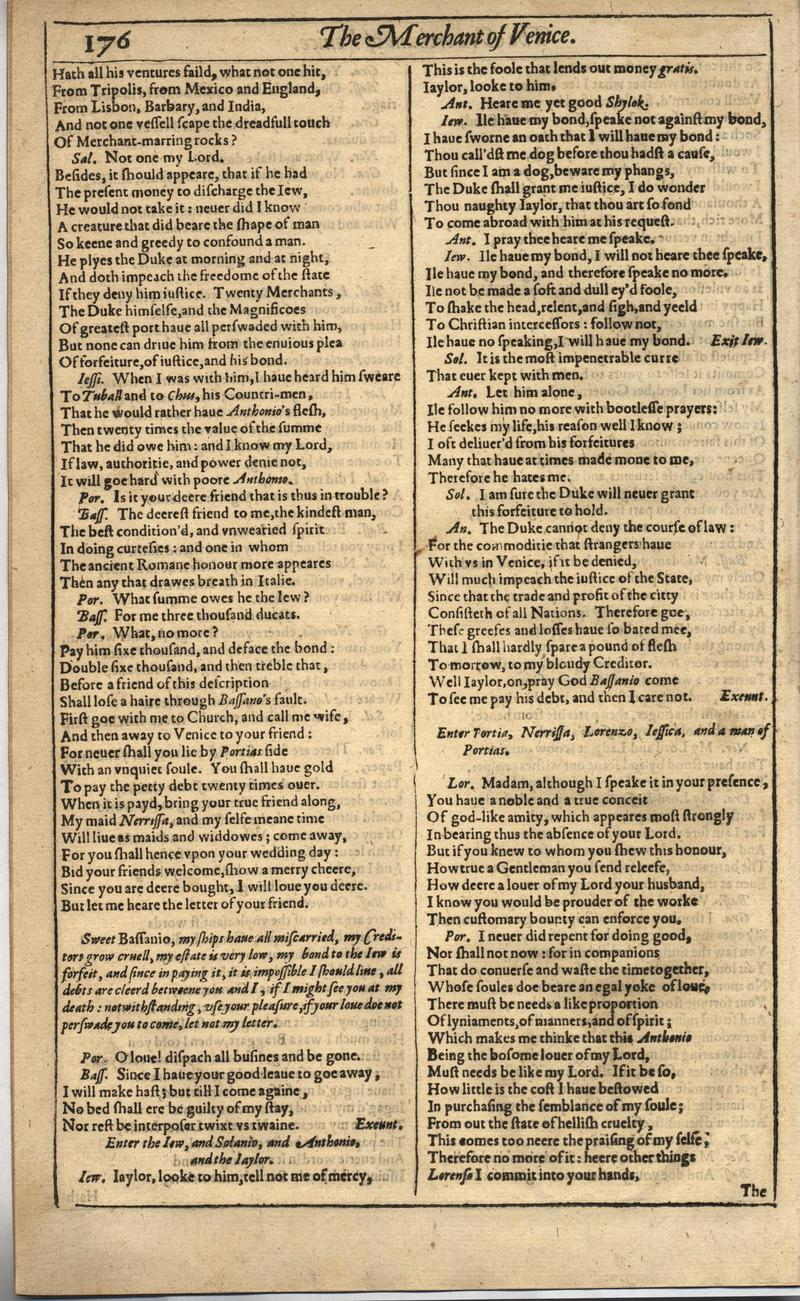 Image of First Folio (Brandeis University), page 194
