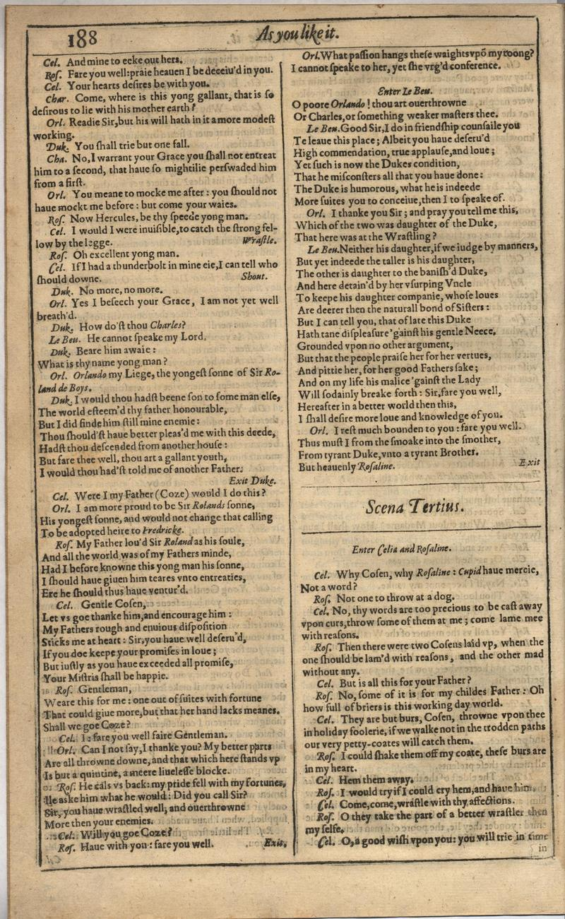 Image of First Folio (Brandeis University), page 206
