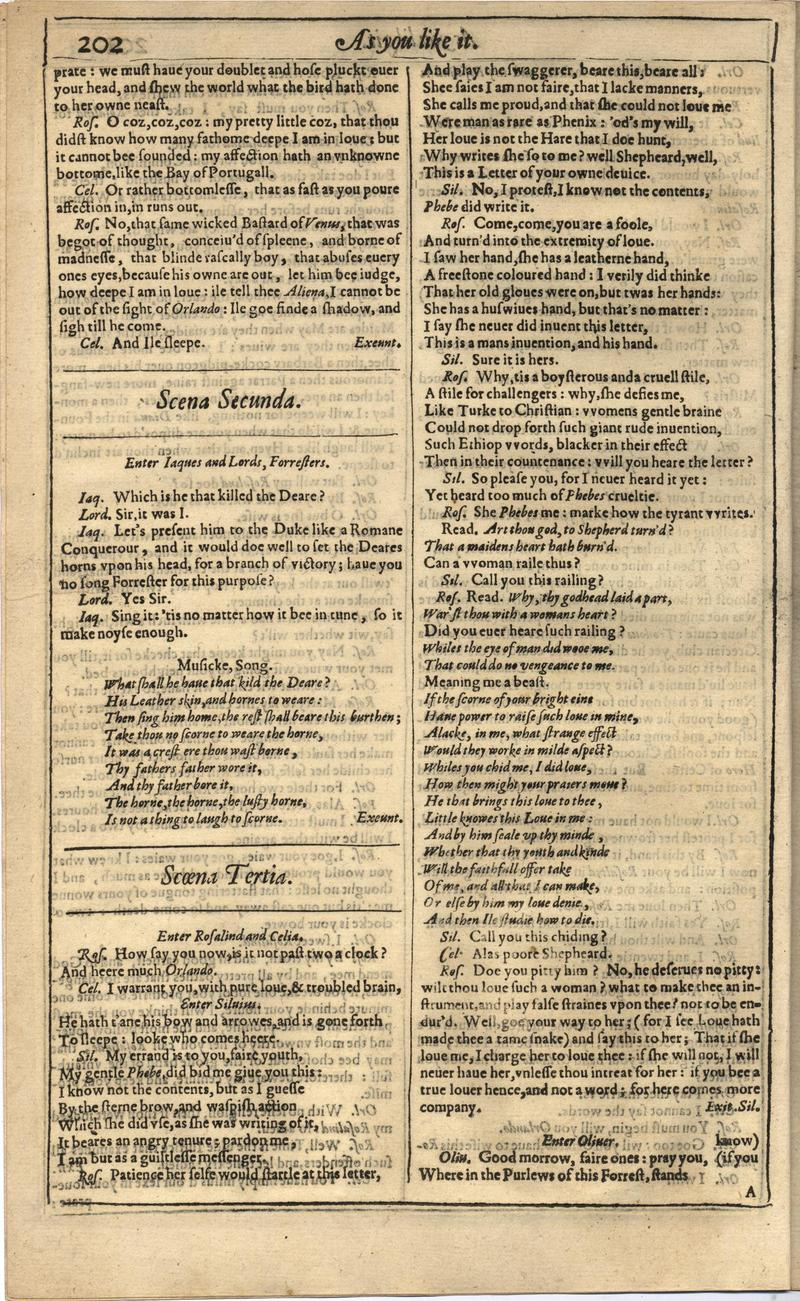 Image of First Folio (Brandeis University), page 220