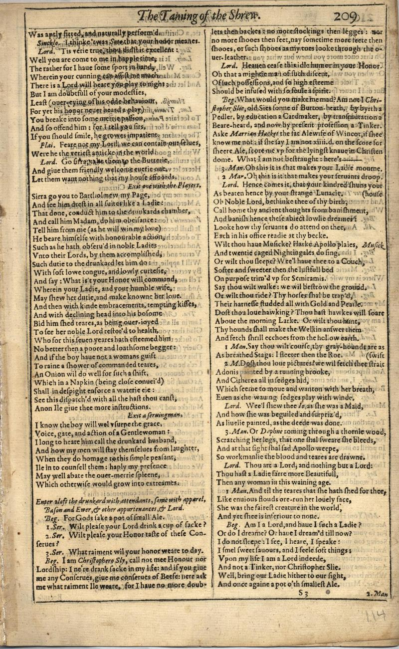 Image of First Folio (Brandeis University), page 227