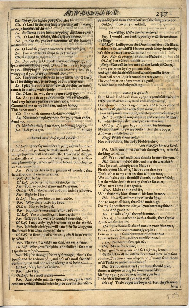 Image of First Folio (Brandeis University), page 255