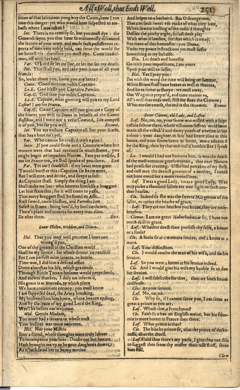 Image of First Folio (Brandeis University), page 267