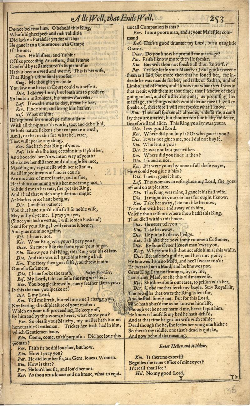 Image of First Folio (Brandeis University), page 271