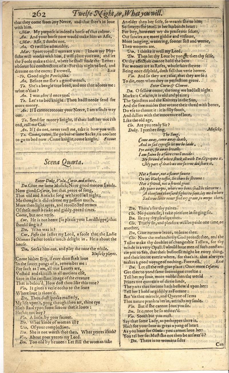 Image of First Folio (Brandeis University), page 280