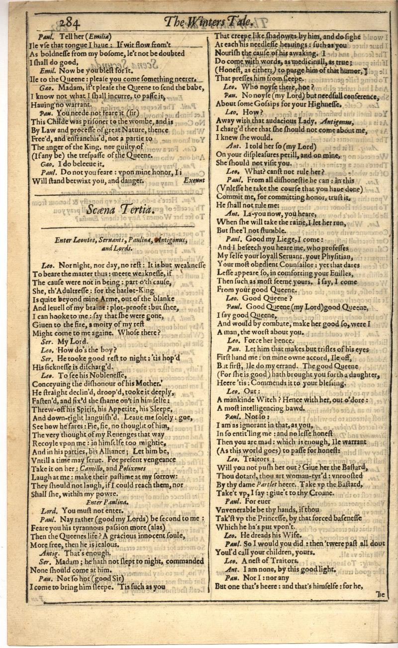 Image of First Folio (Brandeis University), page 302