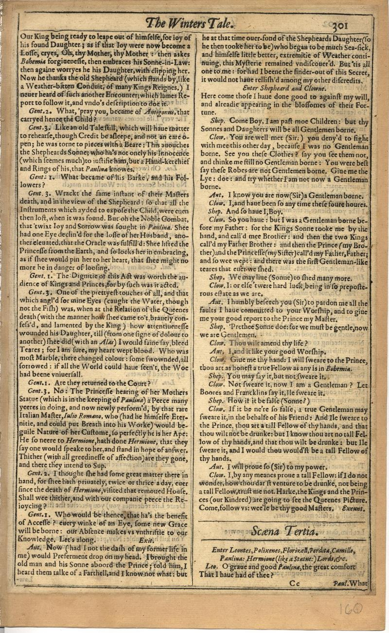 Image of First Folio (Brandeis University), page 319