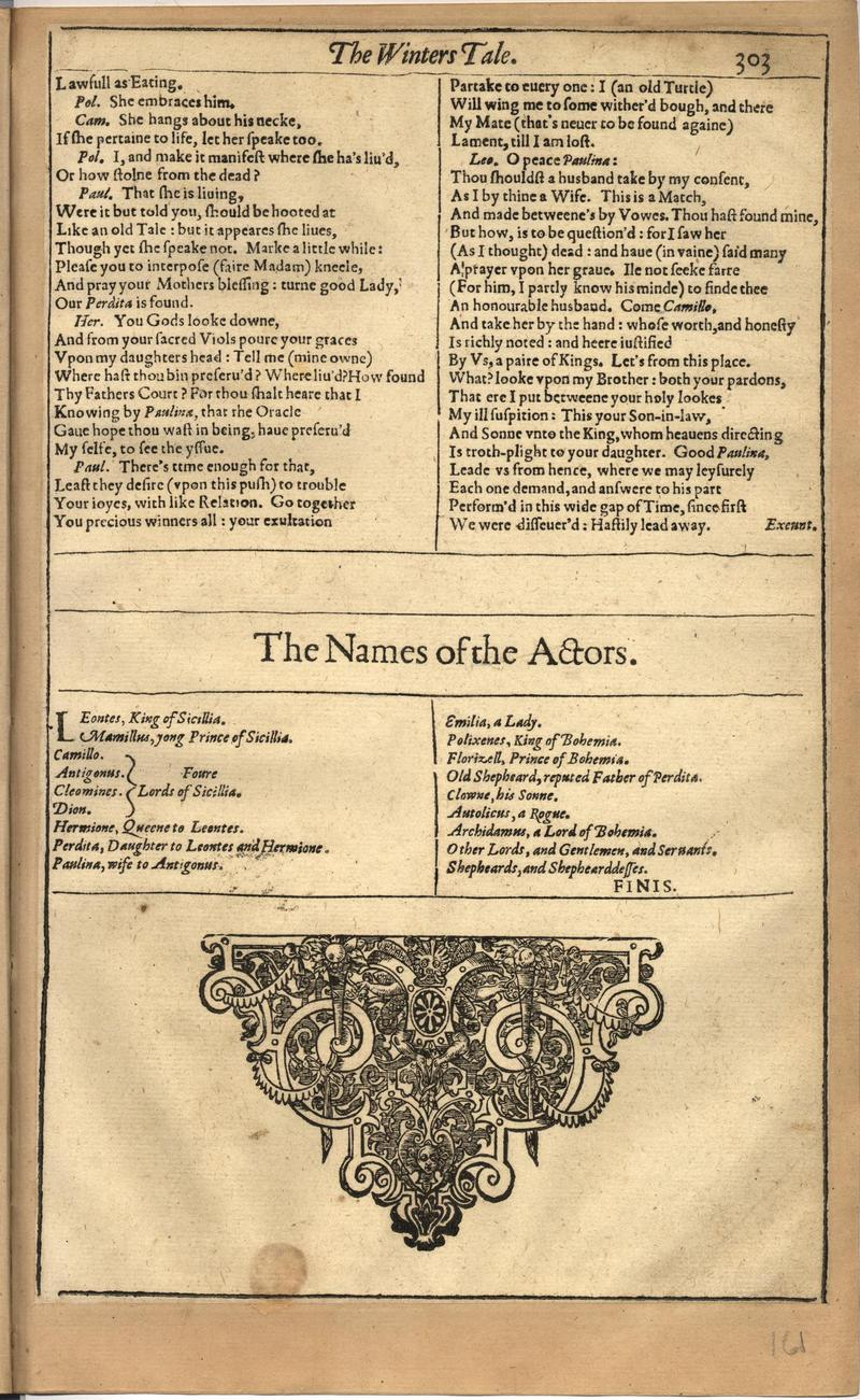 Image of First Folio (Brandeis University), page 321
