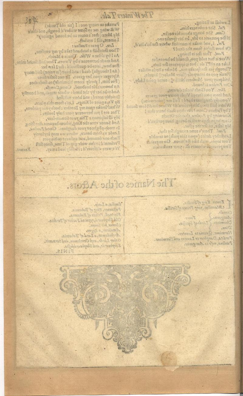 Image of First Folio (Brandeis University), page 322