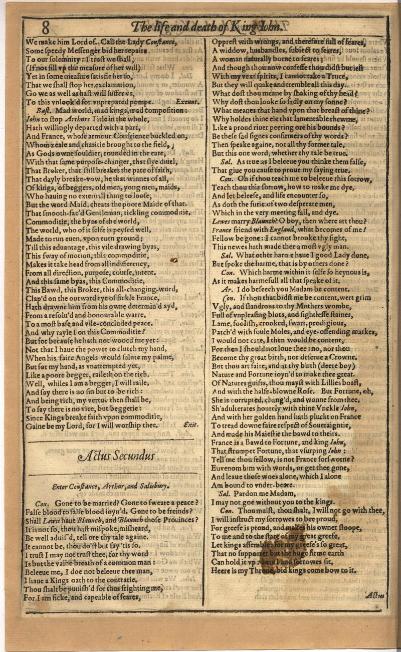 Image of First Folio (Brandeis University), page 330