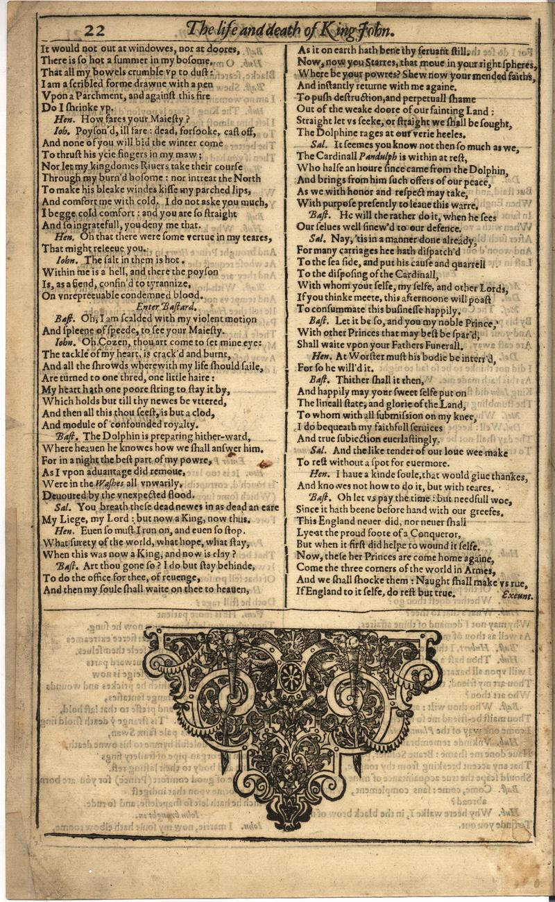 Image of First Folio (Brandeis University), page 344