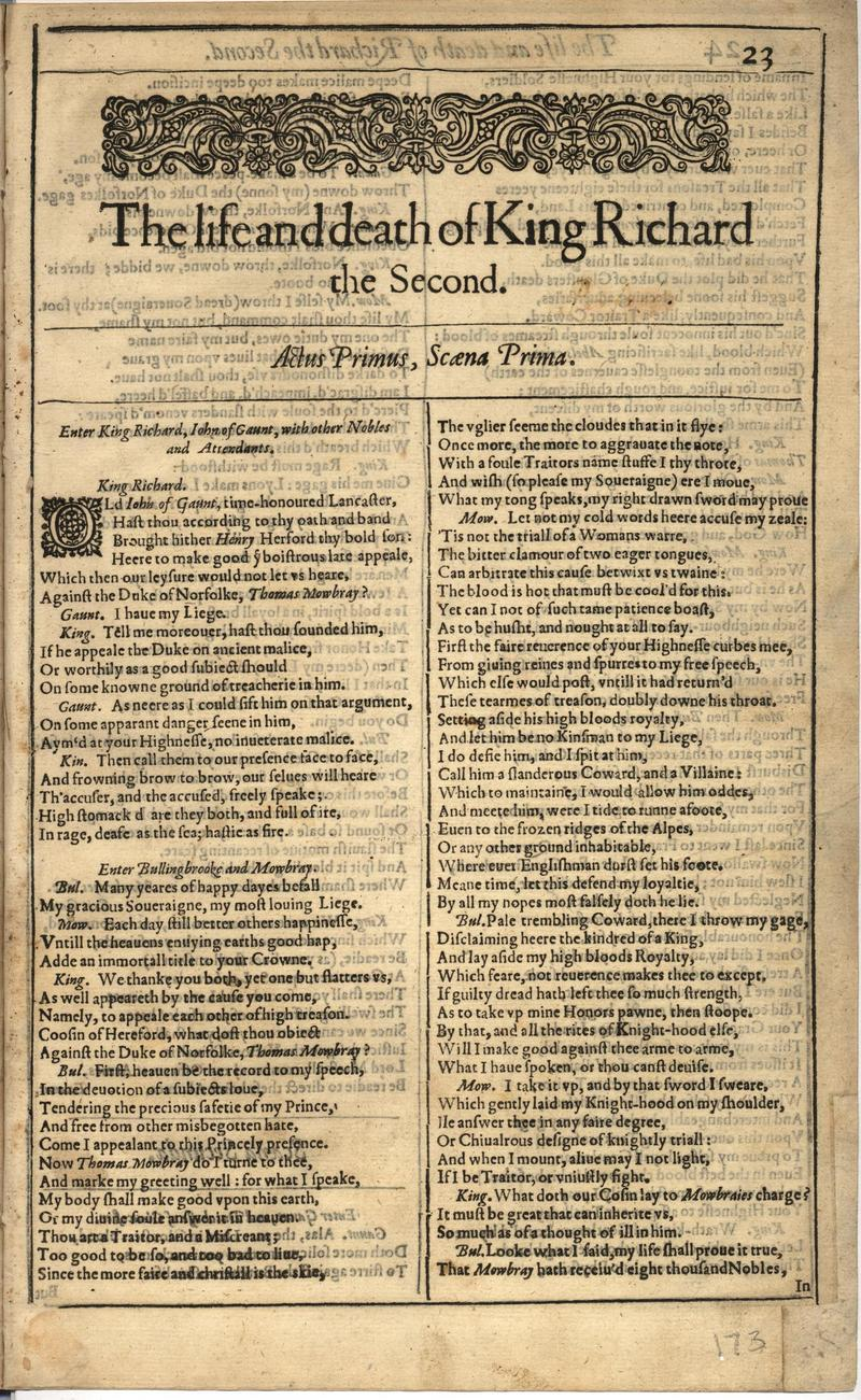 Image of First Folio (Brandeis University), page 345
