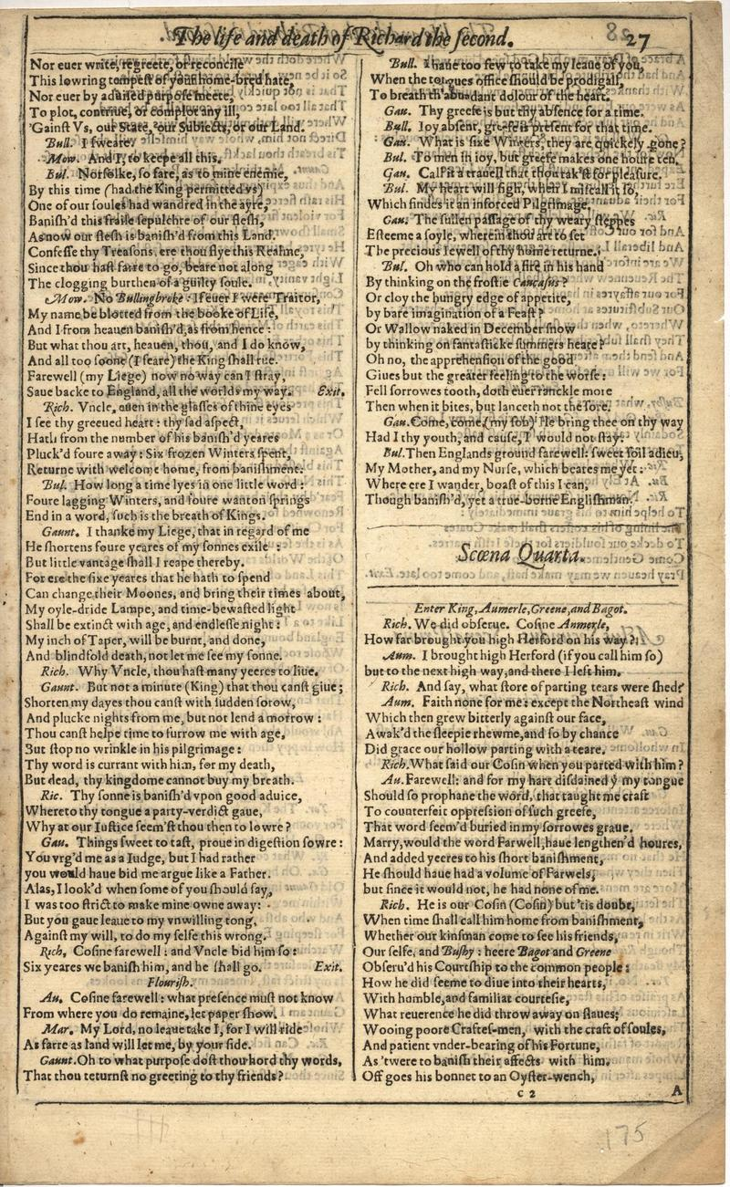 Image of First Folio (Brandeis University), page 349