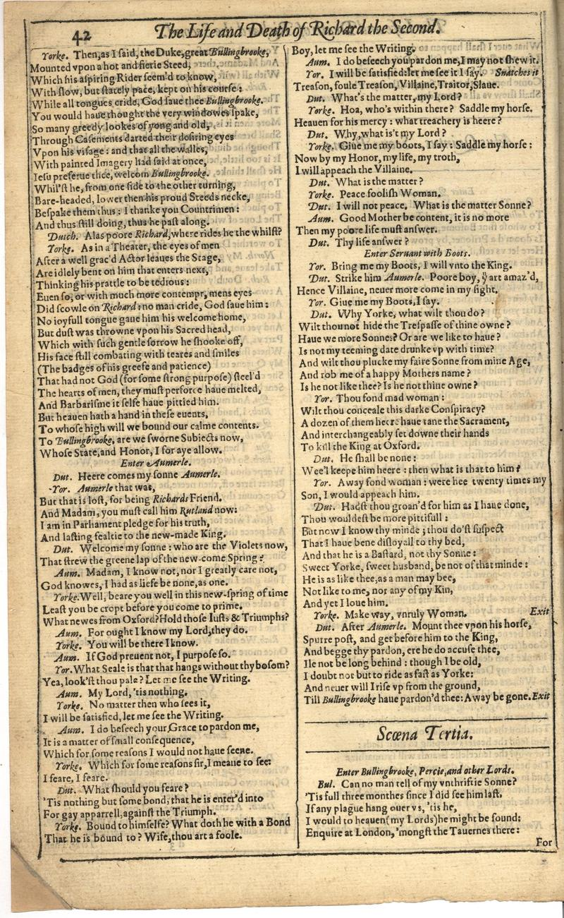 Image of First Folio (Brandeis University), page 364