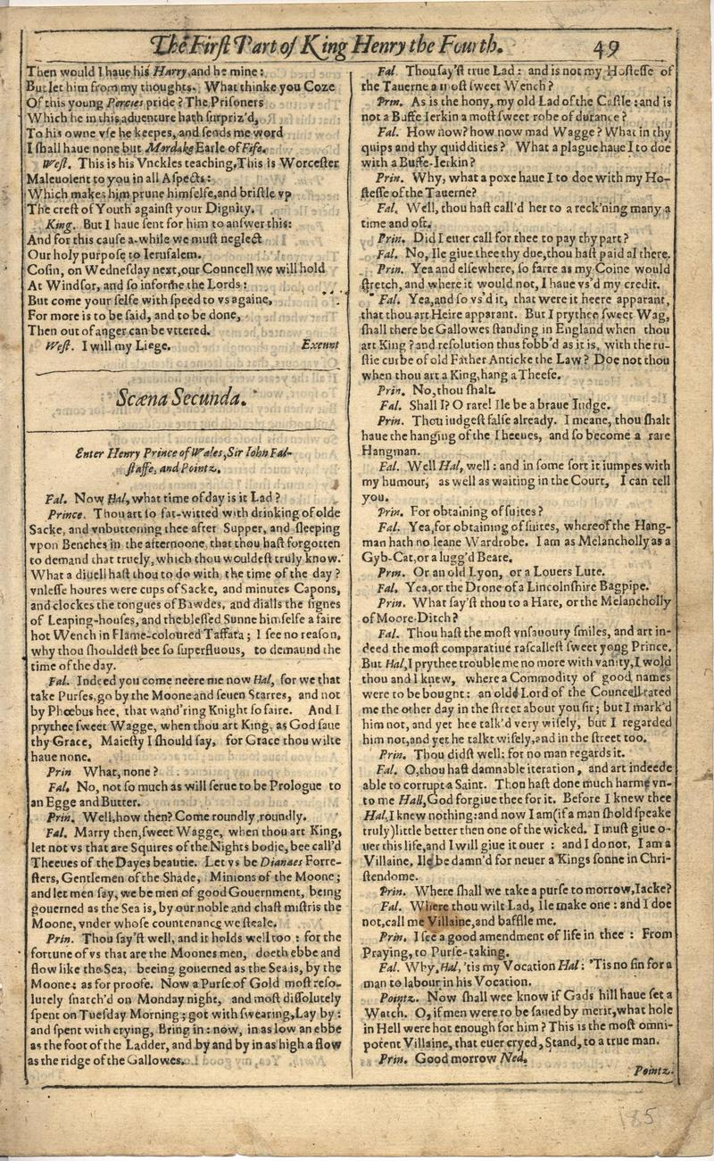 Image of First Folio (Brandeis University), page 369