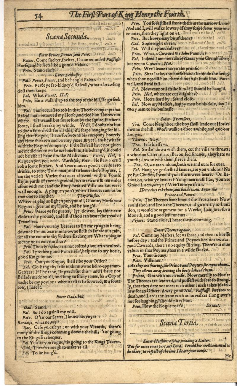 Image of First Folio (Brandeis University), page 374