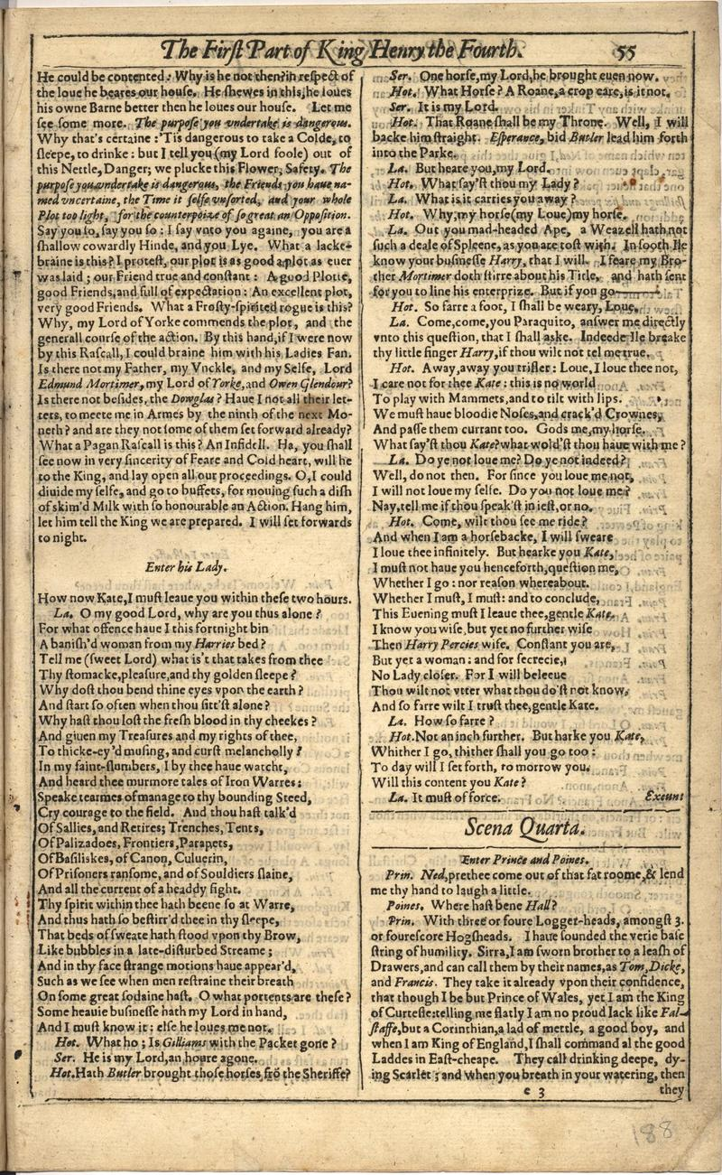Image of First Folio (Brandeis University), page 375