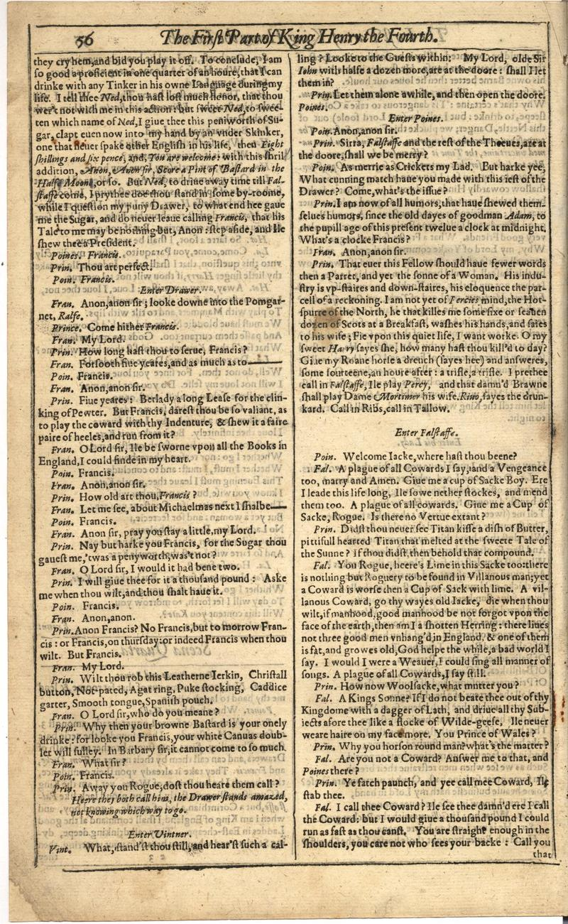 Image of First Folio (Brandeis University), page 376