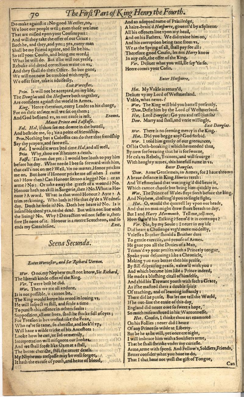 Image of First Folio (Brandeis University), page 390