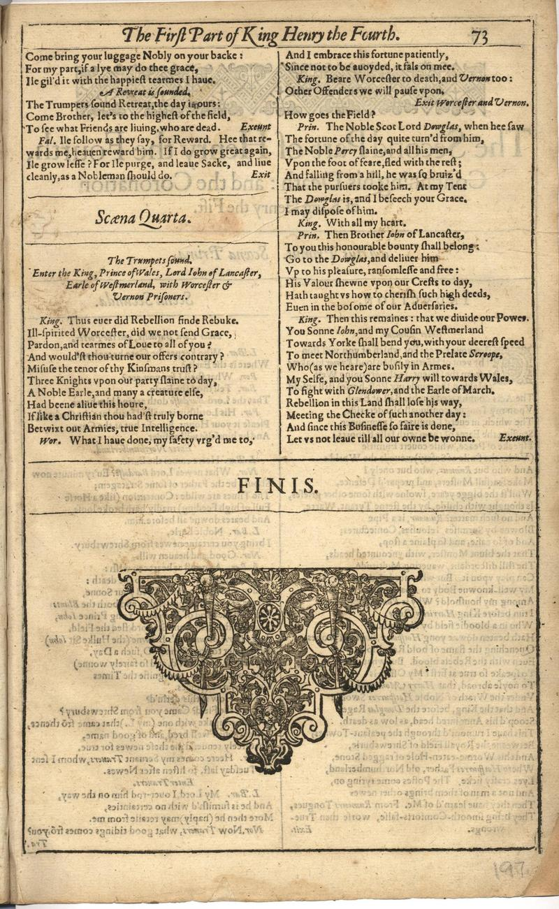 Image of First Folio (Brandeis University), page 393