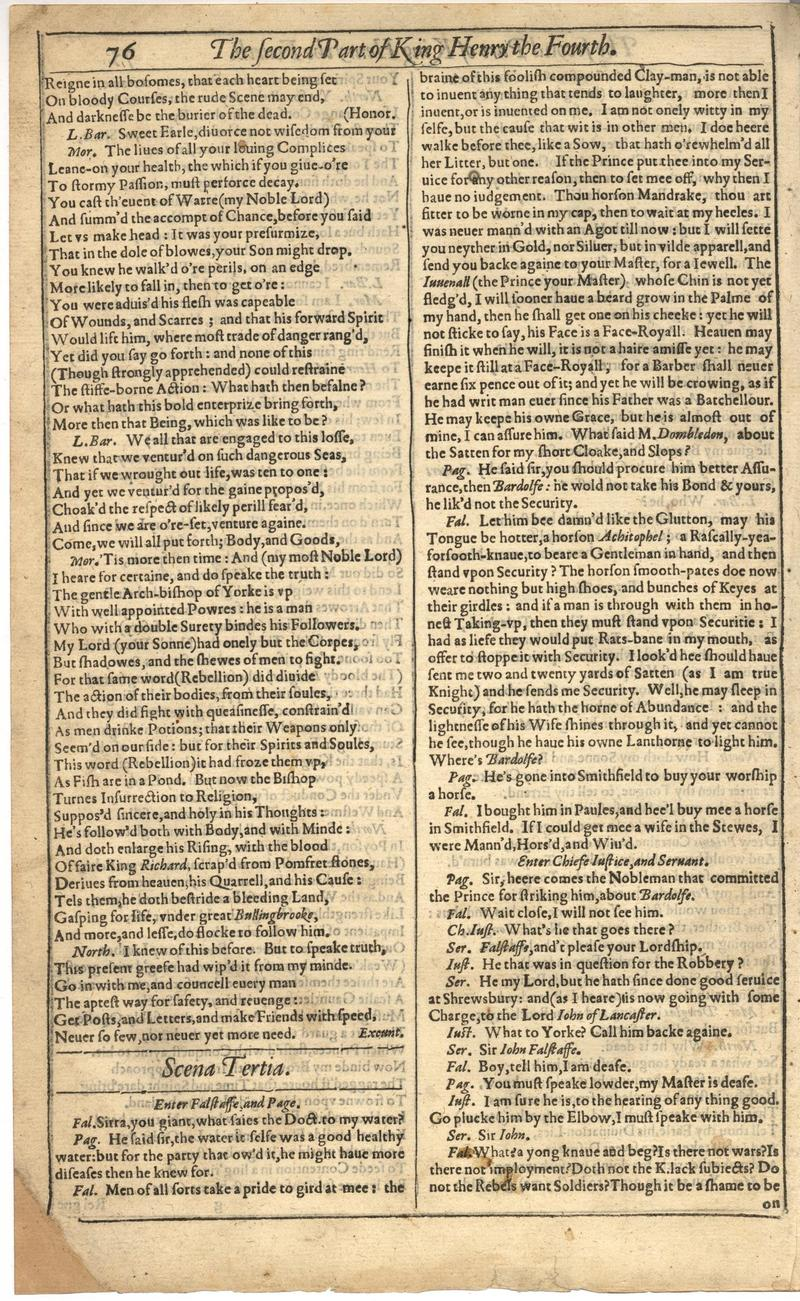 Image of First Folio (Brandeis University), page 396