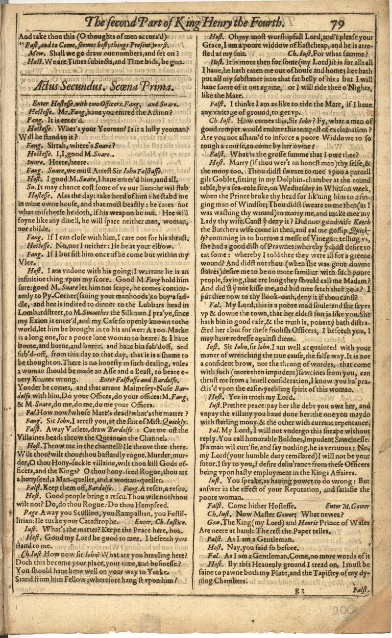 Image of First Folio (Brandeis University), page 399