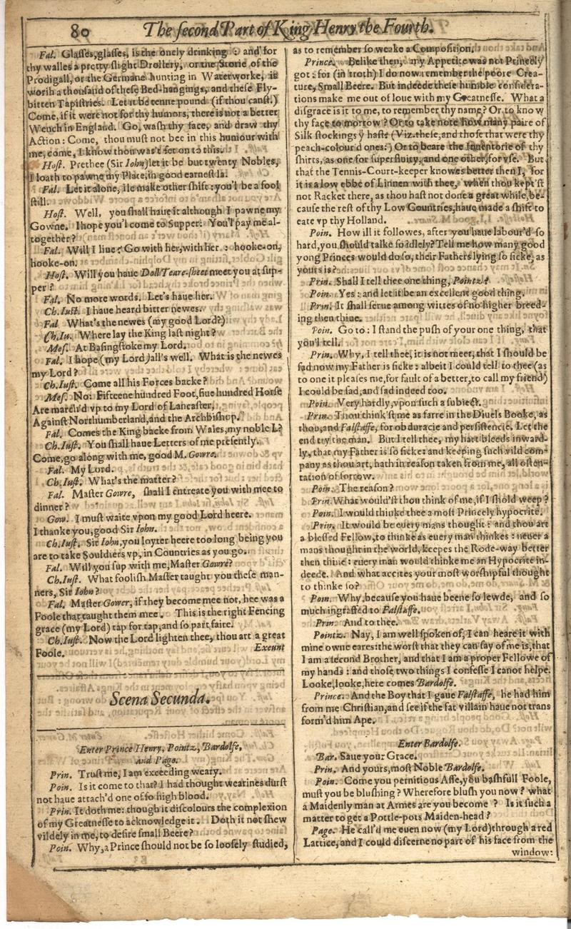 Image of First Folio (Brandeis University), page 400