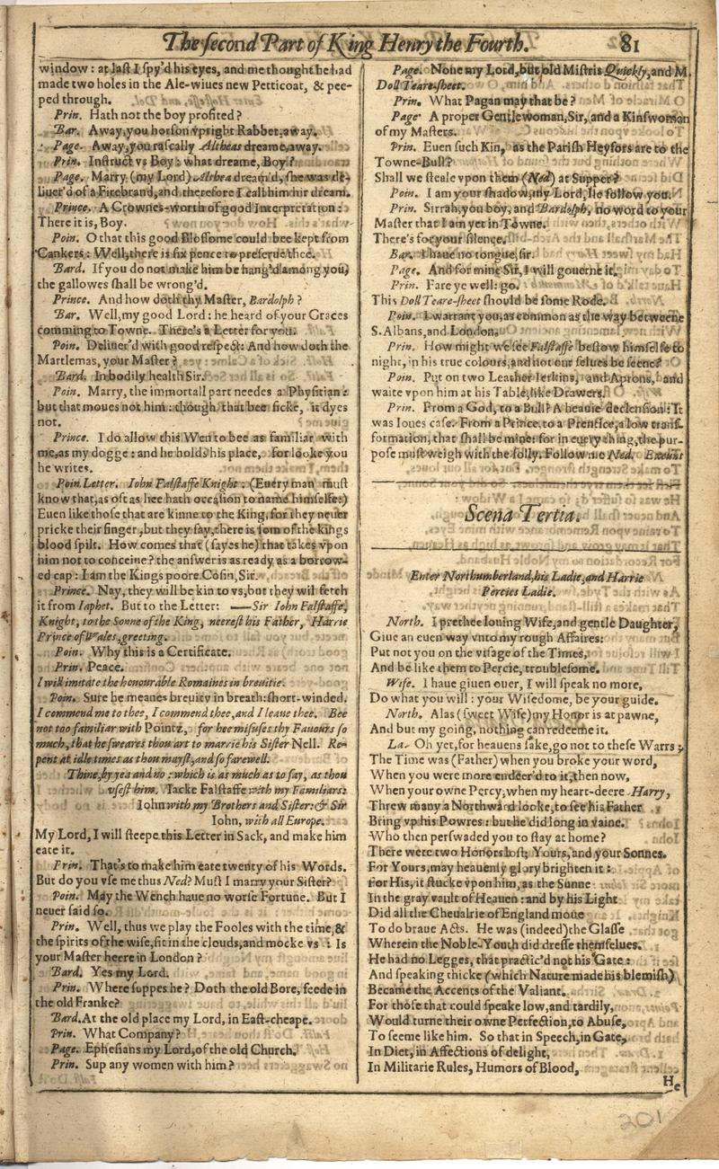 Image of First Folio (Brandeis University), page 401