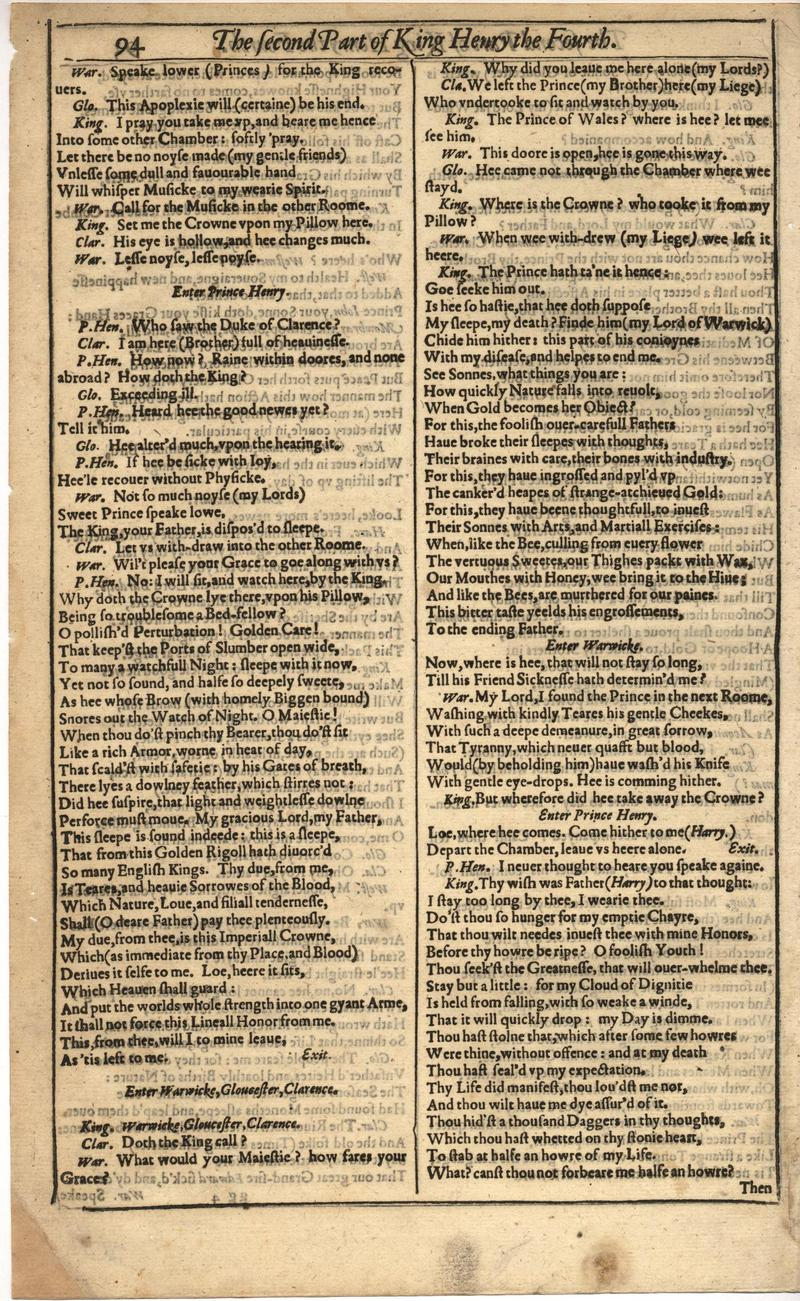 Image of First Folio (Brandeis University), page 414